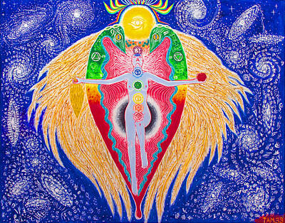 Rainbow Body Poster featuring the painting Rebirth Of The Magician by Paul Hanson