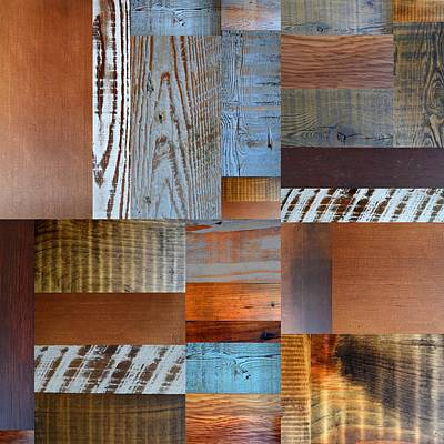Reclaimed Wood Collage 1.0 Poster by Michelle Calkins