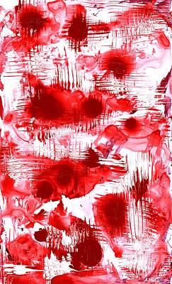 Red And White Poster by Anastasiya Malakhova