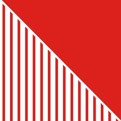 Red And White Triangles Poster by Linda Woods