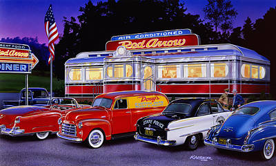 Red Arrow Diner Poster by Bruce Kaiser