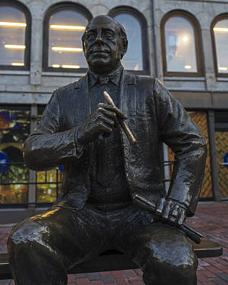 Red Auerbach Chilling At Fanueil Hall Front Poster by Toby McGuire
