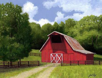 Red Barn In Franklin Tn Poster by Janet King