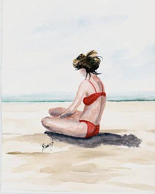 Red Bikini Poster by Sam Sidders