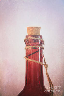 Red Bottle Poster by SK Pfphotography