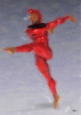 Red Dancer Poster by Quim Abella