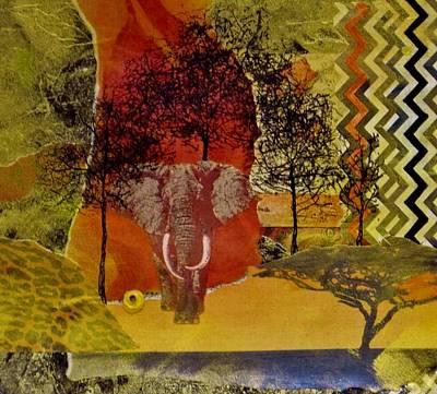 Red Elephant Poster by David Raderstorf
