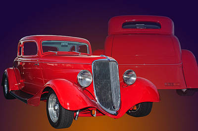Red Ford Poster by Jim  Hatch