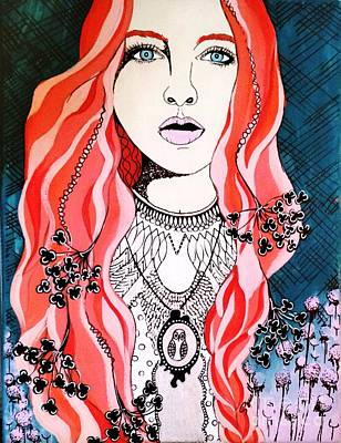 Red Head Poster by Amy Sorrell