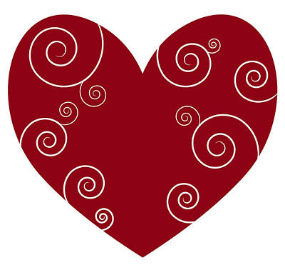 Red Heart Poster by Frank Tschakert