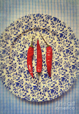 Red Hot Peppers Poster by Lyn Randle
