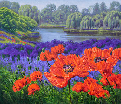 Red Poppies 2 Poster by Fiona Craig