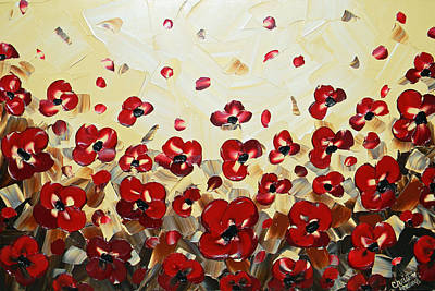 Red Poppy Dance Poster by Christine Krainock
