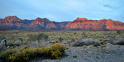 Red Rock Morning Panoramic Poster by Glenn McCarthy Art and Photography
