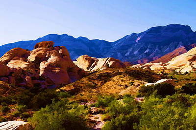 Red Rock Canyon Poster by Ricky Barnard