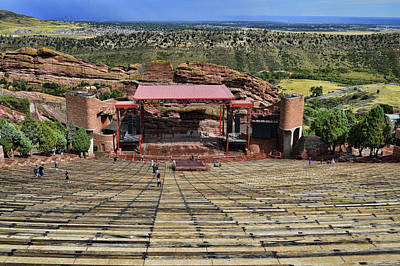 Red Rocks Ampitheatre Colorado - Photography Poster by Ann Powell