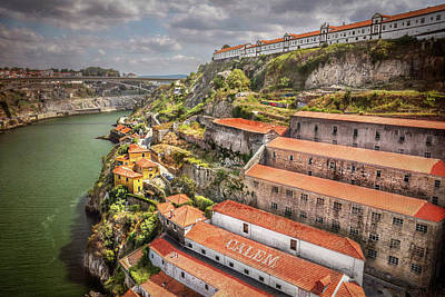 Red Roofs Of Porto Poster by Carol Japp