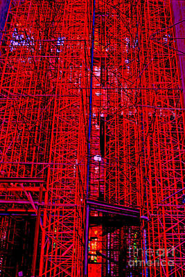 Red Scaffold Poster by Andy  Mercer