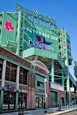 Red Sox 2013 Champions Poster by Jerry Fornarotto