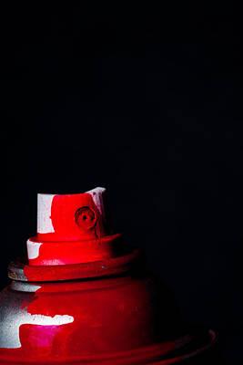 Red Spray Poster by Karol Livote