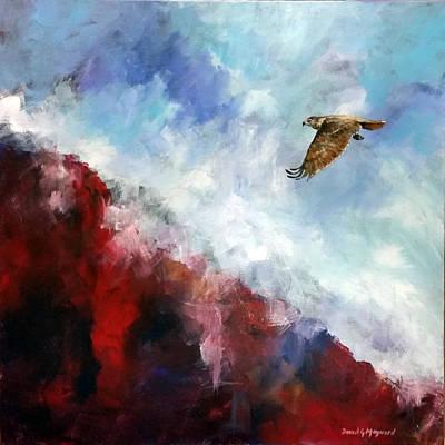 Red Tail Poster by David  Maynard
