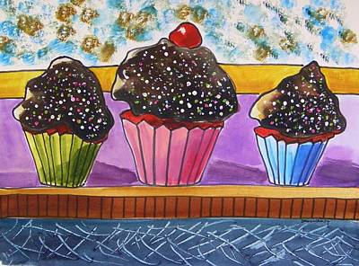 Red Velvet With Hot Fudge Frosting Poster by John Williams