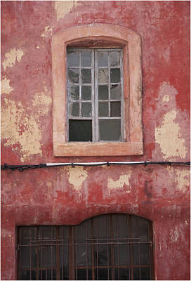Red Wall In Isle Sur La Sorgue Poster by Antique Images