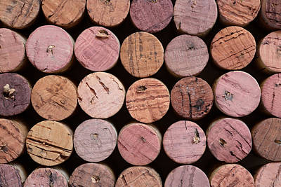 Red Wine Corks 135 Poster by Frank Tschakert