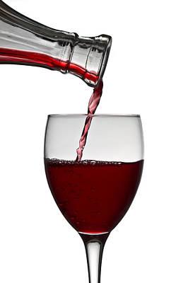 Red Wine Poster by Gert Lavsen