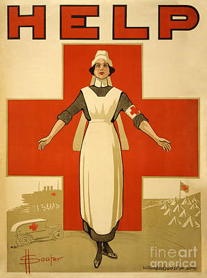 Redcrossnurse Marine Corps Recruiting Poster From World War II Poster by Celestial Images