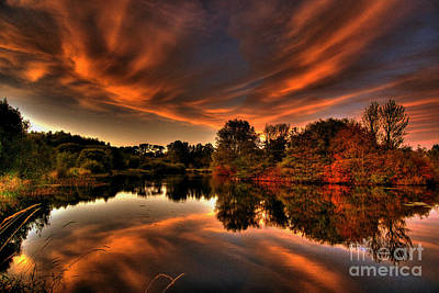 Reflecting Autumn Poster by Kim Shatwell-Irishphotographer