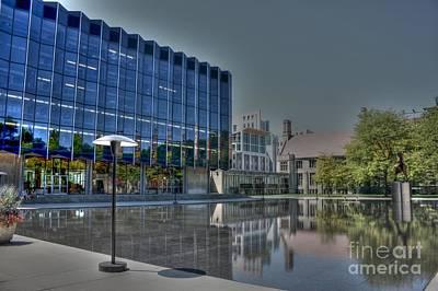 Reflecting Pond U Of C Law School Poster by David Bearden