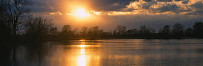 Reflection Of Sun In Water, West Poster by Panoramic Images