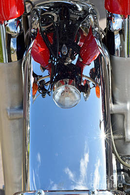 Reflection On A 1974 Honda Cb350 Poster by George Atsametakis