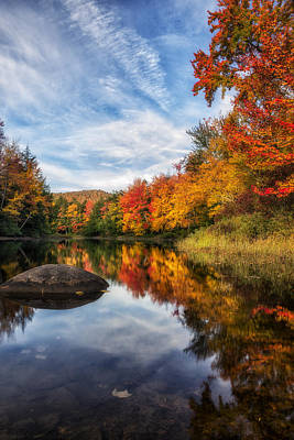 Reflections Of Fall Poster by Mark Papke