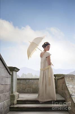 Regency Woman From The Time Of Jane Austen Poster by Lee Avison