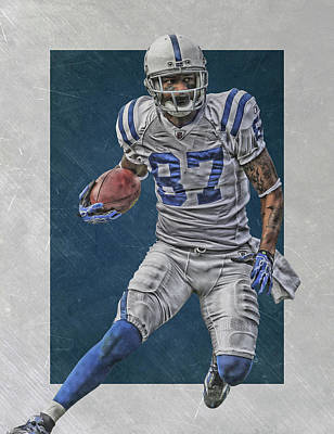 Reggie Wayne Indianapolis Colts Art Poster by Joe Hamilton