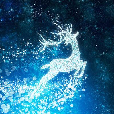 Reindeer Stars Poster by Setsiri Silapasuwanchai