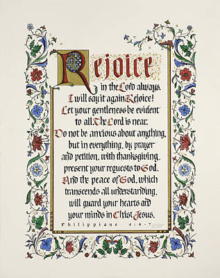 Rejoice II Poster by Judy Dodds