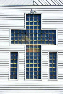 Religion Window Cross Poster by Donald  Erickson