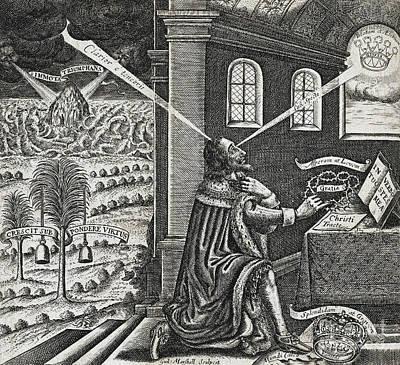 Reliquiae Sacrae Carolinae, Charles I Poster by Folger Shakespeare Library