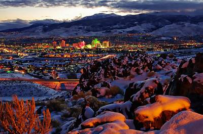 Reno Clearing Snowfall Poster by Scott McGuire