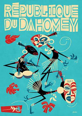 Republique Du Dahomey Poster by Daviz Industries