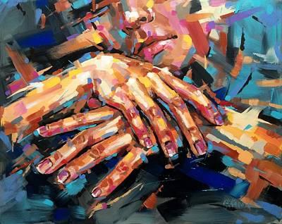 Resting Hands Poster by Christine Karron