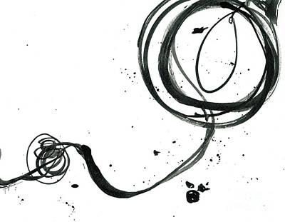 Resurface - Revolving Life Collection - Modern Abstract Black Ink Artwork Poster by Patricia Awapara