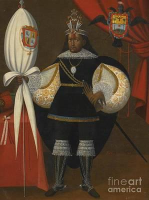 Retrato De Don Marcos Chiquathopa Poster by Vicente Bargas