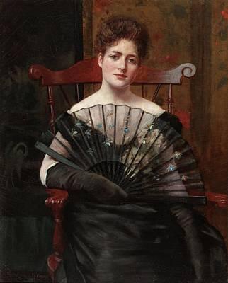 Retrato De Margaret Cecilia Keenan Poster by Frederick  Warren