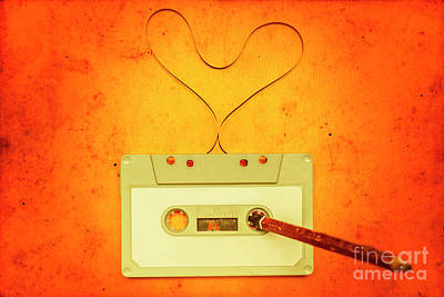 Retro Music Love Poster by Jorgo Photography - Wall Art Gallery