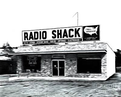 Retro Radio Shack Poster by Edward Fielding