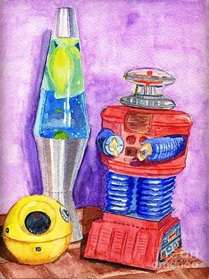 Retro Toys Poster by Lynne Reichhart